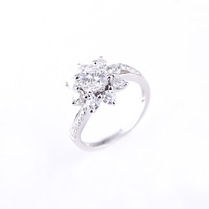 1ct white gold moissanite engagement rings GORI000036